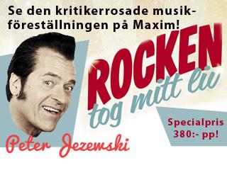 Se erbjudande från Peter Jezewskis föreställning - Rocken tog mitt liv!